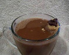 peanut butter hot chocolate in a mug
