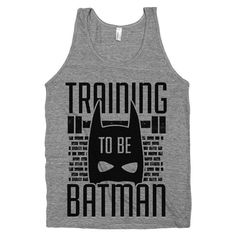 Training to be Batman  Nerdy Super Hero by stridefitnessapparel, $22.00 #batman #workouttanktop