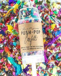 wedding glitter colorful push pop confetti / / http://www.deerpearlflowers.com/wedding-exit-send-off-ideas/