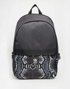 b8b0700bc6 adidas Originals Backpack with Snake Skin Contrast Print Adidas Backpack