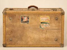 vintage suitcase circa 1940s