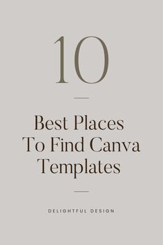 10 Best Places To Find Canva Templates, Free and Paid Options – Delightful Design Personal Website Design, Minimal Website Design, Branding Template, Branding Design, Logo Design, Design Design, Web Design Tips, Web Design Trends, Design Layouts