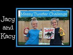 Messy Twister Challenge ~ Jacy and Kacy - YouTube