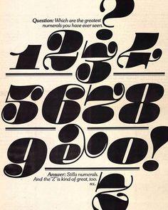 Stilla numerals by François Boltana 1973 #typeverything by typeverything