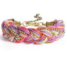 Braided yarn bracelet