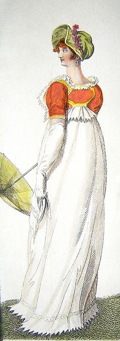 London Walking Dress, July 1807.