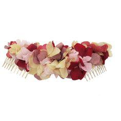 Semicorona trasera de flores Rosas-Burdeos - Lito & Lola
