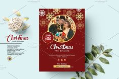 Christmas Mini Session Template by Template Shop on @creativemarket