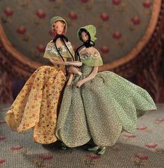 View Catalog Item - Theriaults Antique Doll Auctions - cloth dollhouse dolls by dorothy heizer
