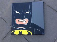 Batman canvas artwork acrylic painted wallart kids