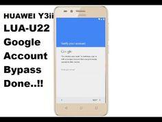 HUAWEI LUA U22 Y3ii Google Account Bypass