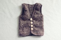 6-12 Month Wool Tweed Vest for Boys - Wool Knit Vest - Infant Knit Vest - Boys Knit Vest - Brown Wool Knit Vest. $30.00, via Etsy.... 6 month photos! epp. so cute.