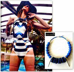 Revista Saber Viver Junho15 Colar pedras semi preciosas  e botões