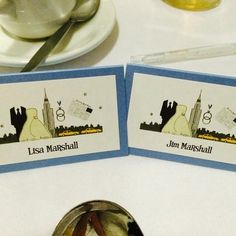 New York Wedding name cards