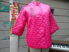 Vintage MCM Quilted Pink Bed Jacket 1950s 1960s Roberta Brand by RockabillyPinUps on Etsy