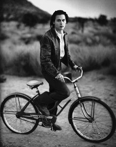 Johnny Depp...on his bicycle