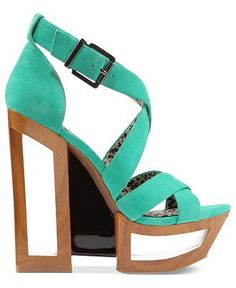 High heel green summer sandals for ladies.click the picture to see more