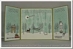 "8"" Flap Card. White Christmas. Holiday Home. Wonderful Wreath. All Is Calm papers. by Amanda Bates at The Craft Spa"