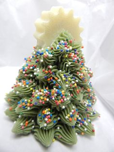 Christmas Tree Soap 3D Handmade Artisan by BadAssSoapCompany