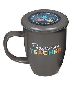 This Gray 'Prayer for a Teacher' Mug by Abbey Press is perfect! Steaming Cup, Young Life, Preschool Kindergarten, Ceramic Design, Teacher Gifts, Teacher Prayer, Teacher Appreciation, Birthday Gifts, Prayers