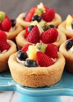 Fruit Cheesecake Sugar Cookie Cups - Life Love and Sugar