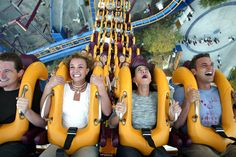 Britney riding roller coasters at Six Flags in 2003
