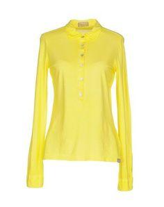 CAPOBIANCO Women's Polo shirt Yellow 10 US
