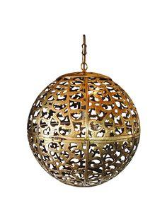 """20"""" Brass Pendant Lamp on Chairish.com"""