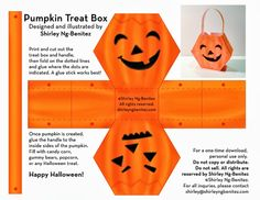 We Love to Illustrate: Halloween Fun free treat box Dulceros Halloween, Halloween Miniatures, Halloween Cards, Holidays Halloween, Halloween Decorations, Halloween Baskets, Basket Crafts, Halloween Activities, Paper Dolls
