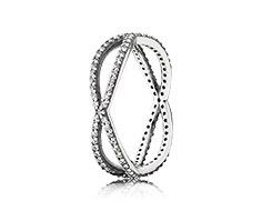 Entwined silver ring with cubic zirconia - A Proposal?? #pandoravalentinescontest