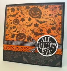Check out the deal on Hallow's Eve at Impression Obsession Rubber Stamps Halloween Paper Crafts, Halloween 2, Halloween Cards, Impression Obsession, Just Pretend, Fall Cards, Paper Decorations, How To Make Bows, Creative Cards