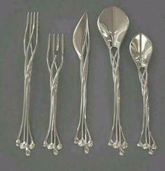 Elvish silverware. Perfect for my elvish type wedding!