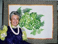 Hawaiian Quilt Inspiration- Kumu!   Monstera   Pinterest