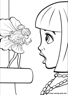 Barbie Thumbelina Suprised Coloring For Kids Find This Pin And More On Color My