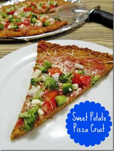 Sweet Potato Pizza Crust?  What who knew this was possible?  Hello -- I can have riotously healthy pizza!