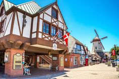 Best of California on a Budget:     BEST MAIN STREET SHOPPING DISTRICT: SOLVANG:    Solvang is a Danish village hidden in Southern California's Santa Barbara County. Its Main Street district is filled with boutique shops,  traditional Danish bakeries, and more than 20 wine‐tasting rooms pouring the best from the 100‐plus wineries in the surrounding Santa  Ynez Valley. Visitors can explore the town by horse‐drawn carriage or surrey ride.
