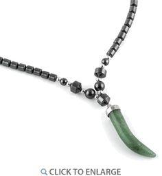 """18"""" Green Aventurine Tooth #HematiteNecklace * $4.43 Green Adventurine, Hematite Necklace, Tooth, Stone, Metal, Rock, Stones, Metals, Batu"""