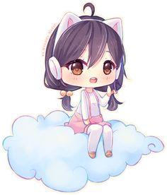 Commission - Fluffy cloud by Hyanna-Natsu on DeviantArt
