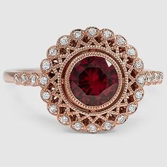 Alvadora ring with ruby set in rose gold--just beautiful! I love. Style of this ring! *Trisha