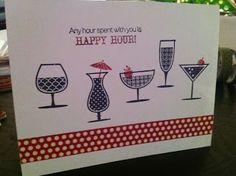 Stampin' Up Happy Hour card