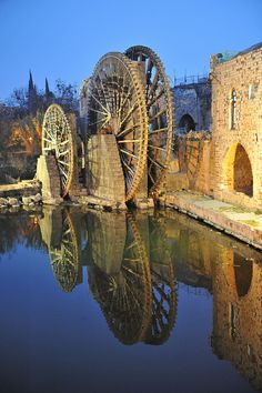 water wheel, Hamah, H'amah, Syria.  Photo: tango- via Flickr