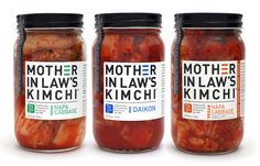 Mother in law's Kimchi packaging designed by Tattfoo.