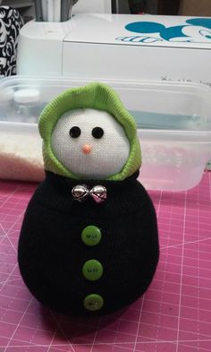 Another angle of the snowman I made