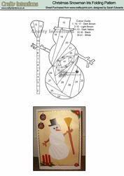 View Christmas Snowman Iris Folding Pattern Details