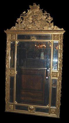 French Giltwood Mirror; circa 1880