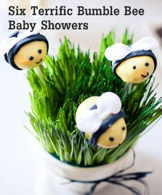 six-terrific-bumble-bee-baby-showers... we created one with our kids too that was so much fun  http://theeducatorsspinonit.blogspot.com/2012/06/gender-reveal-party-whats-it-going-to.html