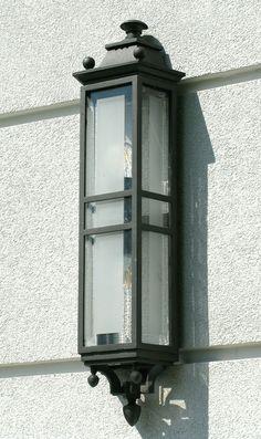 Steel wall lamp Stalowa lampa ścienna