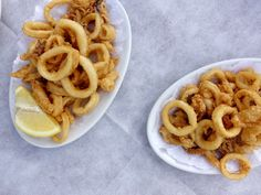 Fried Calamari, Paradise Beach. From @eminchilli  a Day trip from Rome. @Leading Wineries of Napa. www.LwNapa.com