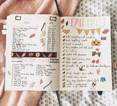 Fall lists #fall #bulletjournal #pumkin #fallbucketlist