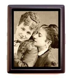 Victorian Lesbian Romance GLBT Business Card Id Wallet Cigarette Case | eBay